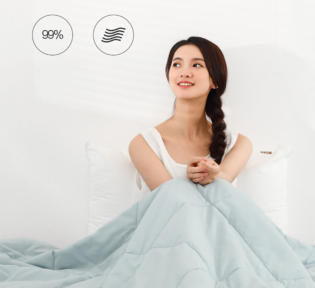 Xiaomi 8H Washable Cotton Anti-Bacterial Cooling Blanket BX