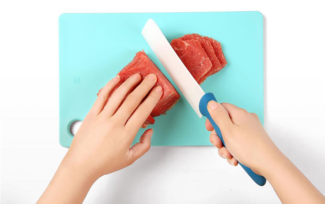 HuoHou 4-In-1 Ceramic Knife And Chopping Board Set