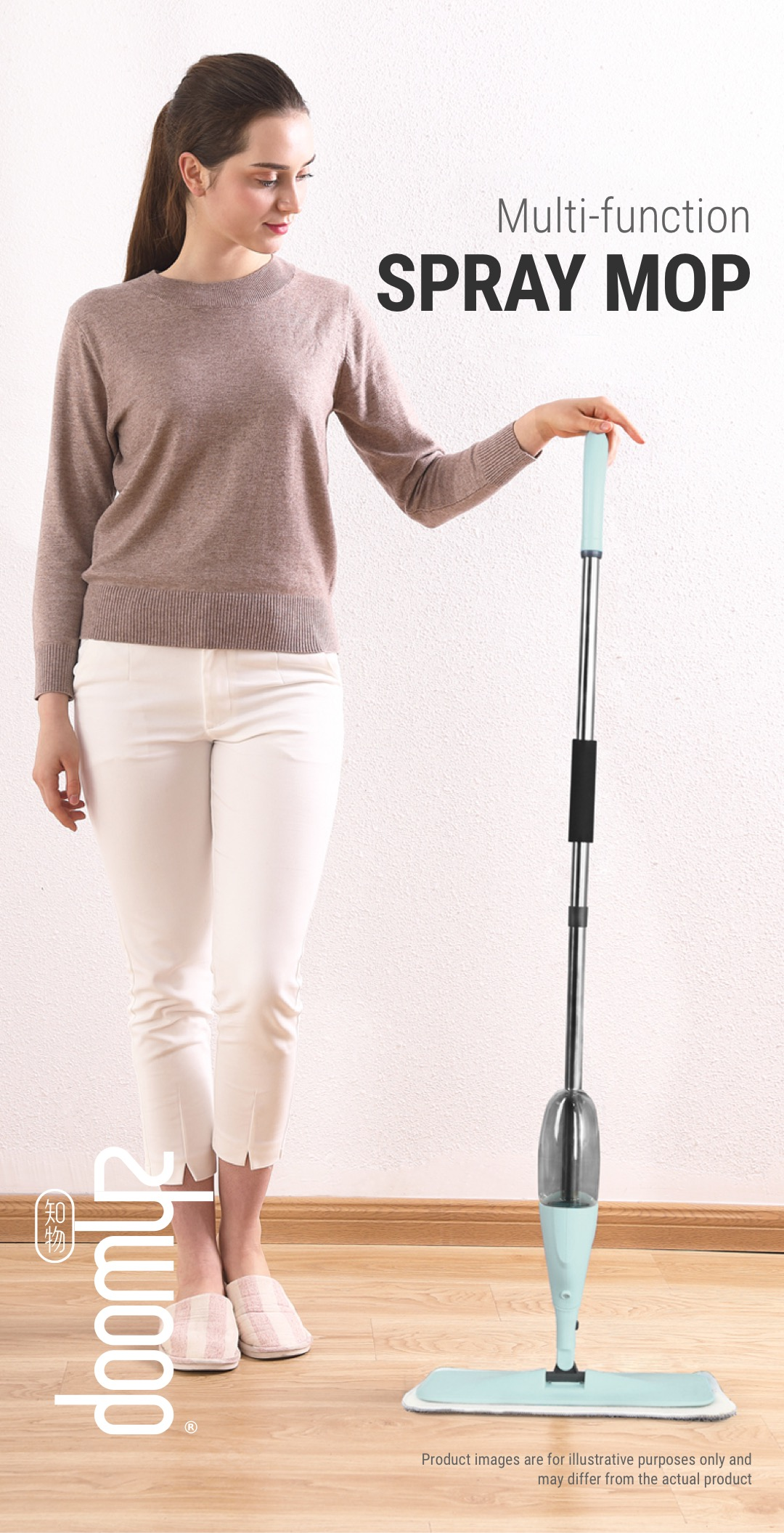 Zhwoop Multi-function Spray Mop