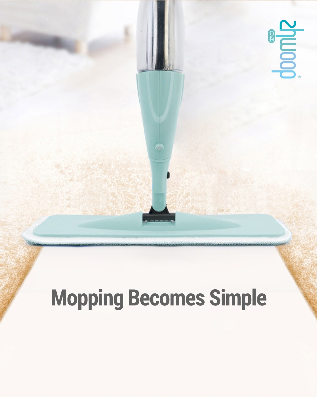 Zhwoop 2-in-1 Multi-function Spray Mop (with Window Glass Mop)