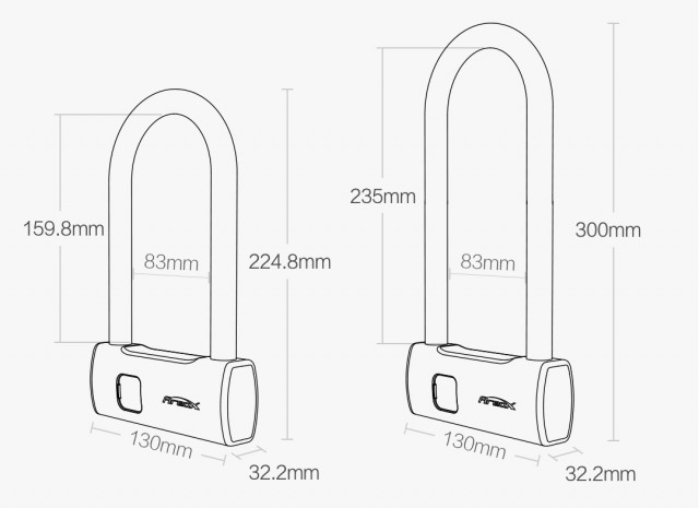 Xiaomi AreoX Smart Fingerprint U Lock