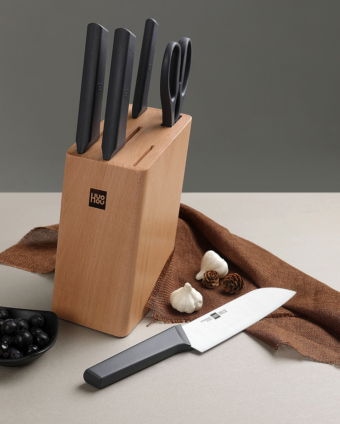 HuoHou Youth Edition 6-in-1 Stainless Steel Knife Set