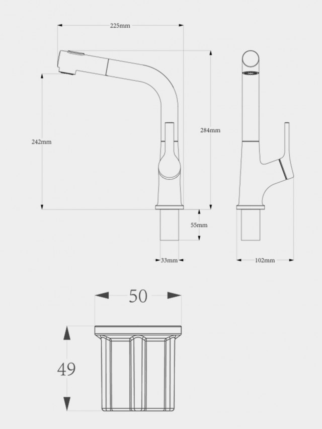 Xiaomi Diiib Pull Out Rinser Kitchen Water Tap