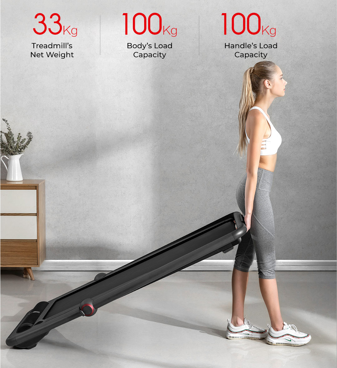Kingsmith K12 2-in-1 Smart Folding Running Walking Sports Treadmill