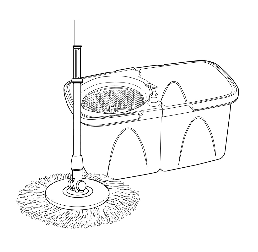 Zhwoop 360 Degree Spin Mop