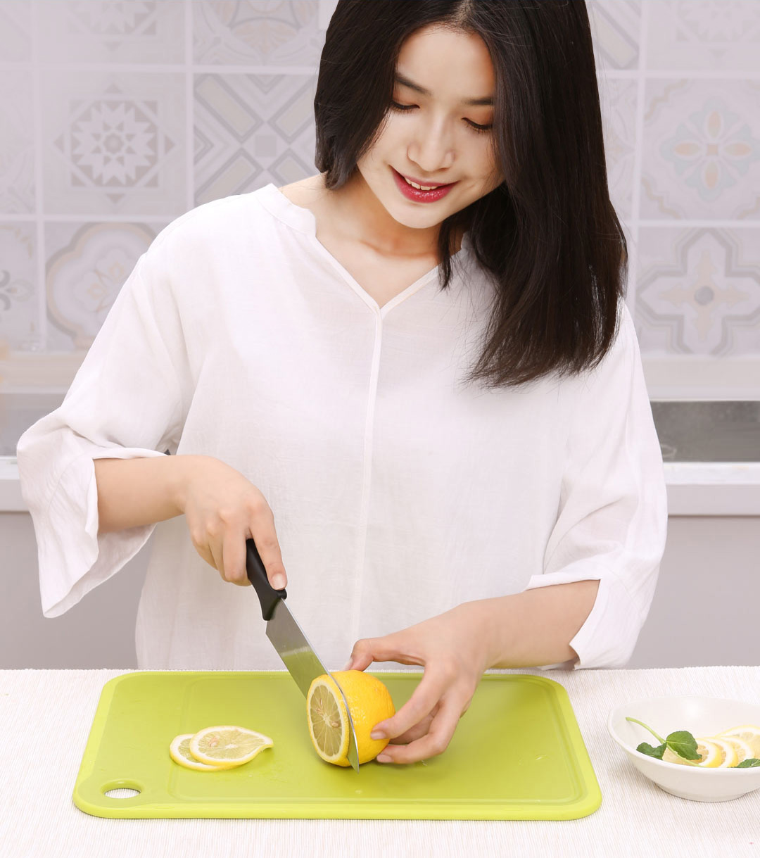 Quange Non-slip Double-sided Cutting Board Set