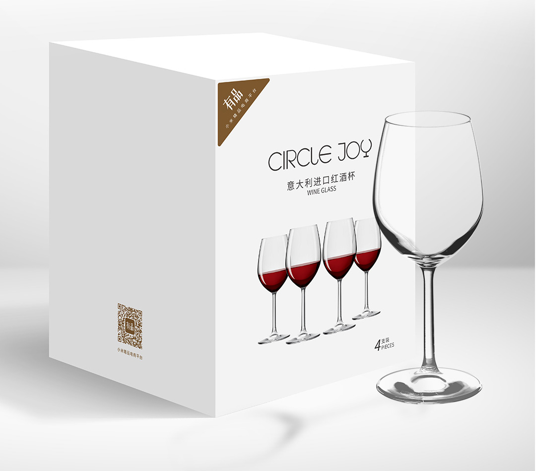 Circle Joy Crystal Glass Wine Glasses CJ-JB04