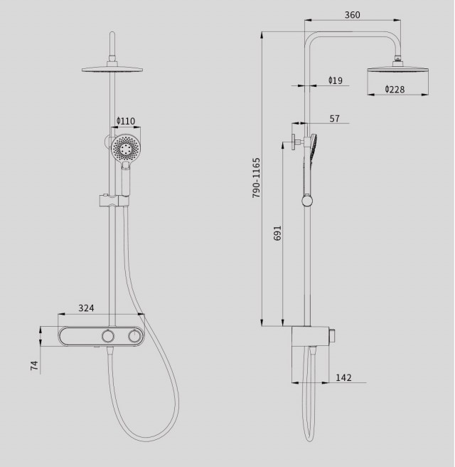 Xiaomi Diiib Future-O Shower Set