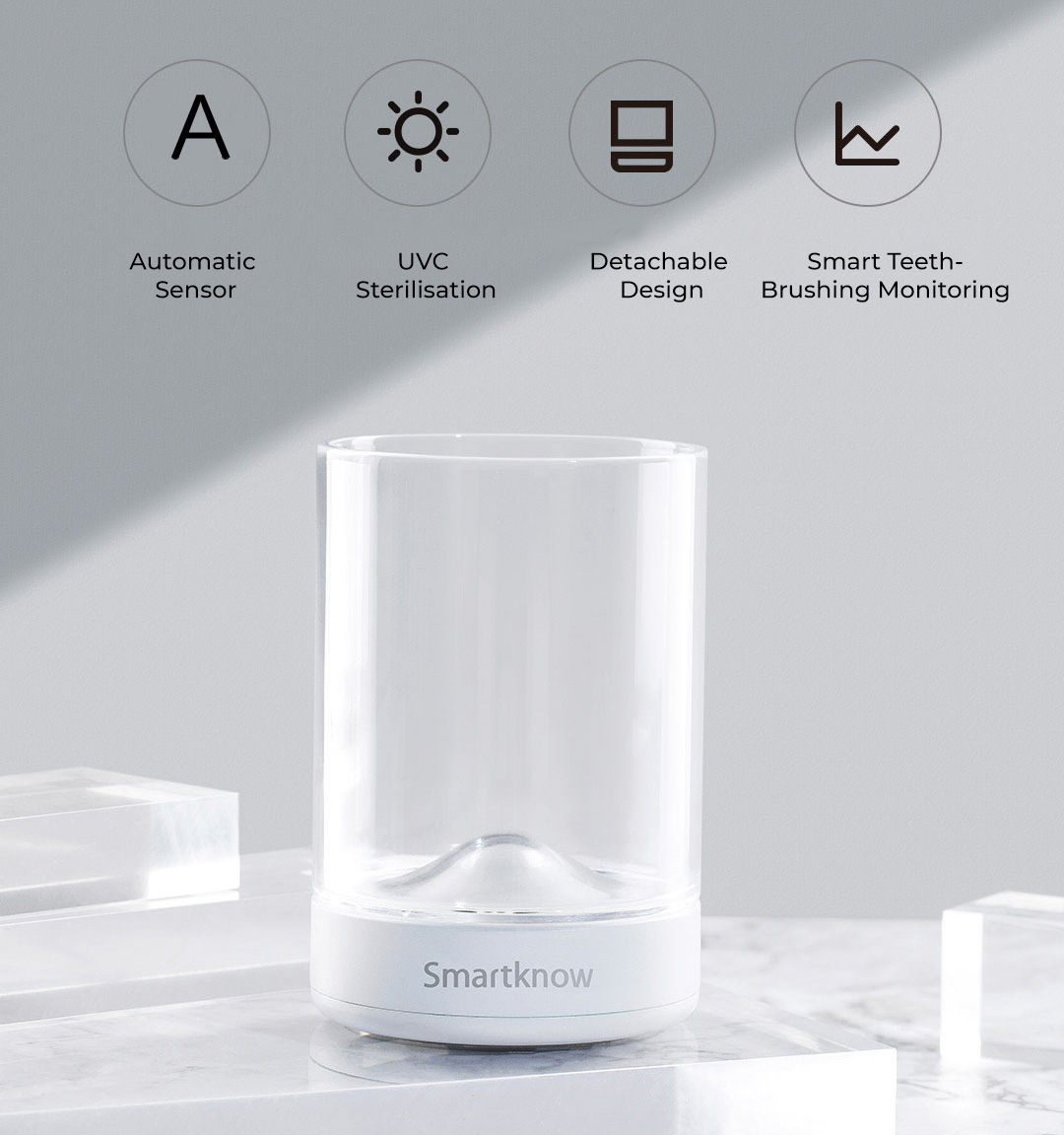 Xiaomi Smartknow Smart Automatic Toothpaste Dispenser & UV Sterilise Rinsing Cup