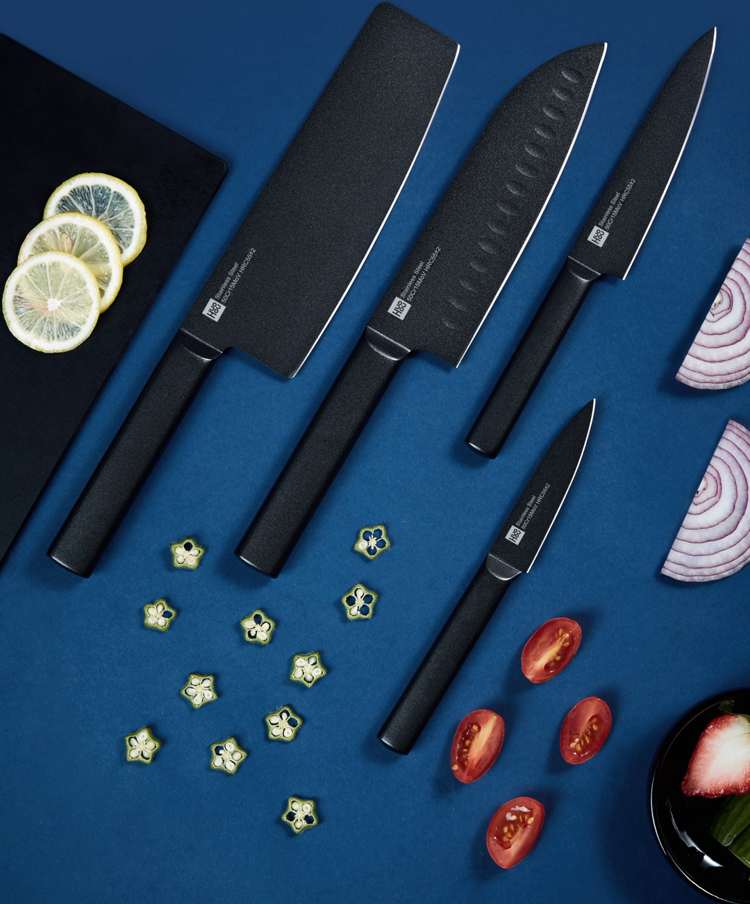 Xiaomi Huohou Non-Stick Stainless Steel Kitchen Knife Combo