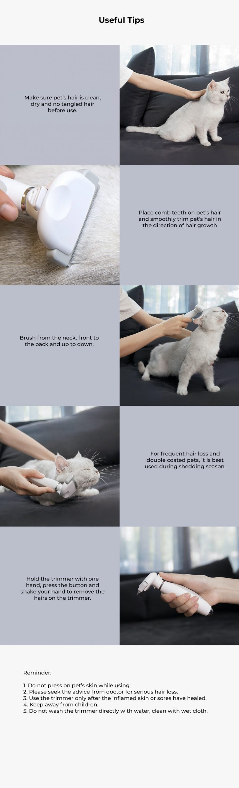 Xiaomi Pawbby Pet Hair Removal Trimmer