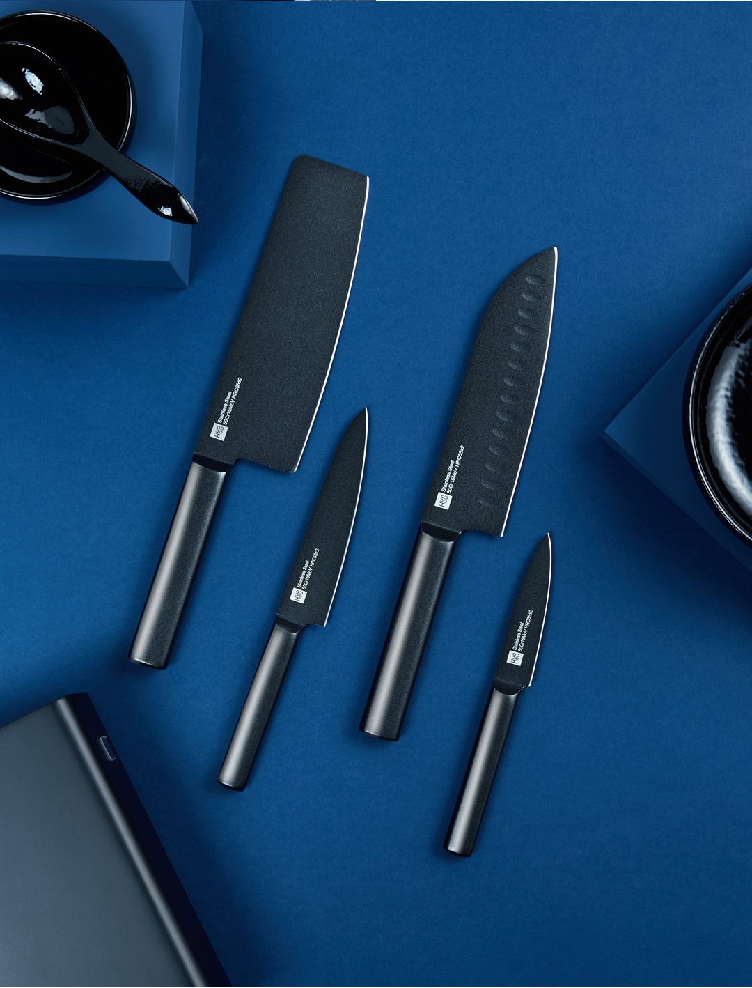 Xiaomi Huohou Non-Stick Stainless Steel Kitchen Knife Combo