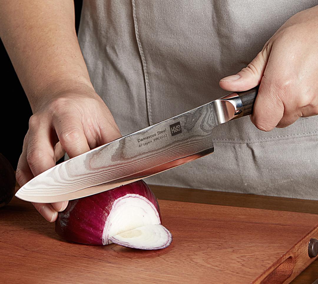 HuoHou Damascus Steel Kitchen Knife