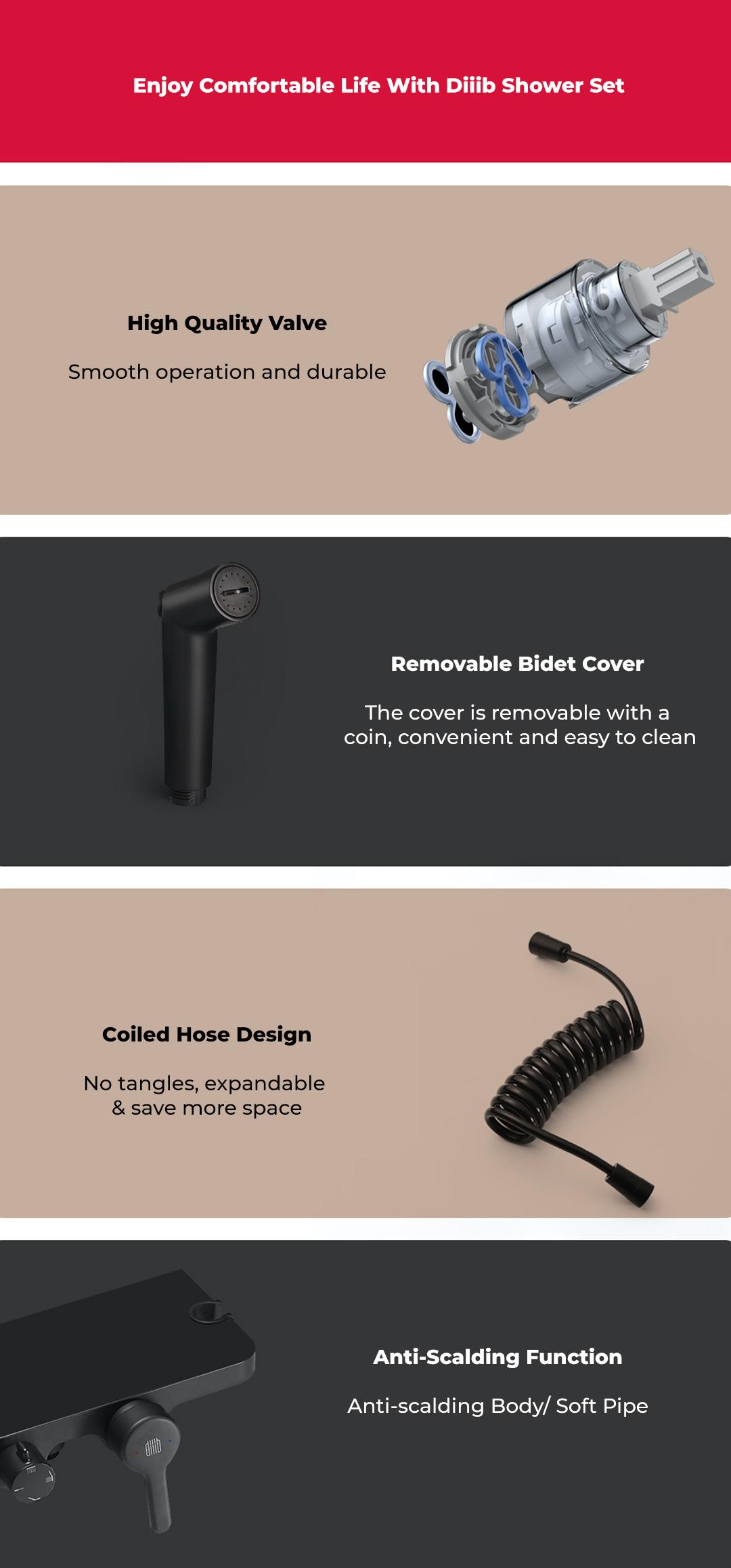 Xiaomi Diiib Shower Set Compression Black Diamond Series