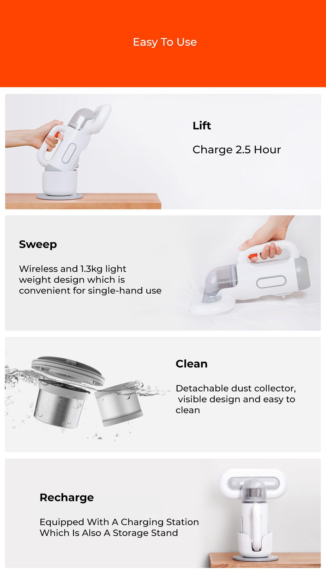 Xiaomi SWDK Dust Mite Vacuum Cleaner  Cordless Version