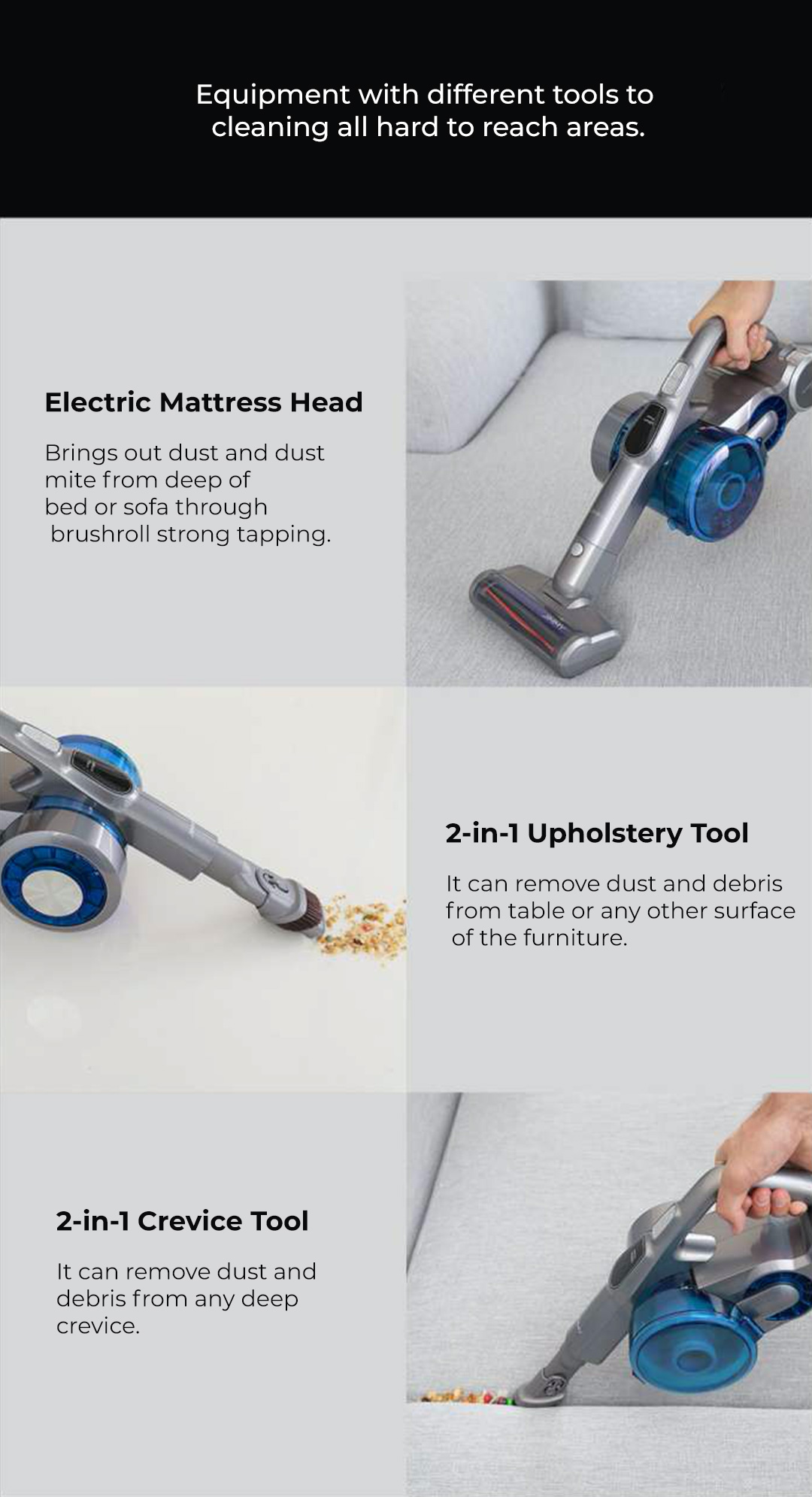 Jimmy Cordless Handheld Vacuum Cleaner JV85