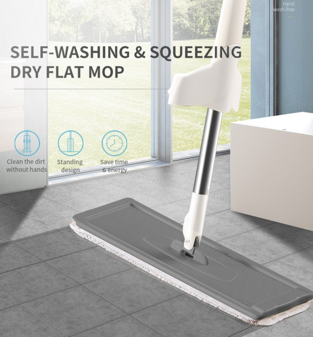 Zhwoop Hands-free Cleaning Magic Flat Mop