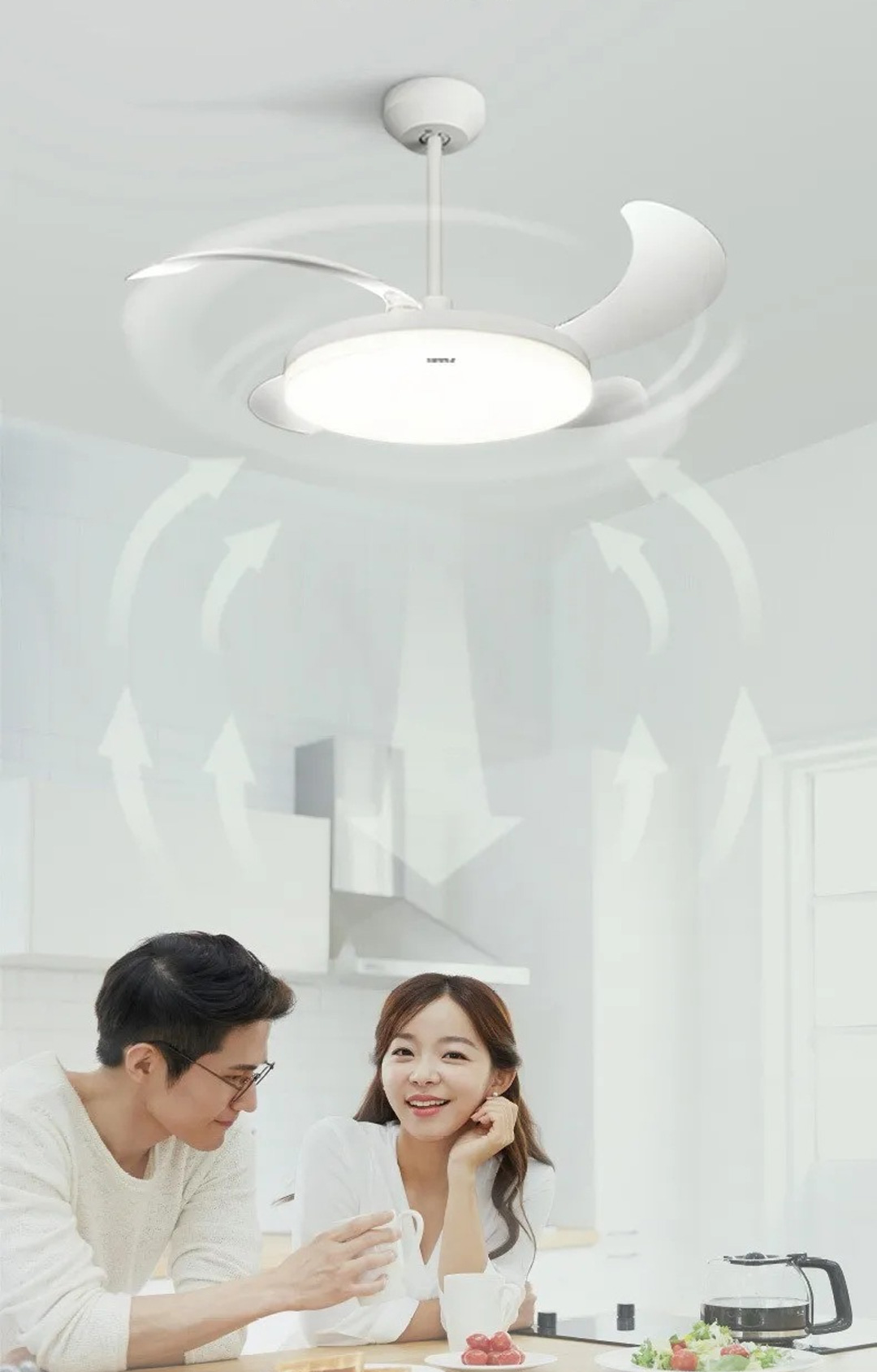 Xiaomi Opple 36″ Retractable Fan With Light